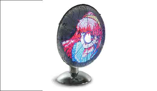 (Image: LED Art Fan displaying Manga; Credit: www.newlaunches.com) The Fan able to display image through its LED technology. It achieved by connecting the fan to any PC via serial port. Just look the picture above or watch the video demo below. Ok here the specs are: 85 diameter pixel resolution, […]