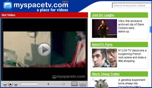"""MySpace launched YouTube like video sharing service called MySpace TV. According to NY Time it is a serious YouTube's Challenger as MySpace TV will take benefits from its MySpace users that reach 110 millions per month. Mr. DeWolfe, MySpace's co-founder and chief executive said he believed that """"no one has […]"""