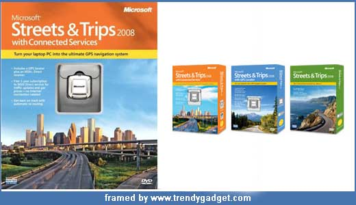 Microsoft Street & Trips 2008 has been announced by Microsoft recently, and they available in various packages including Streets & Trips 2008 with Connected Services, Streets & Trips 2008 with GPS Locator, and Streets & Trips 2008. The most advance package integrated with connected service that costs $180. This package […]