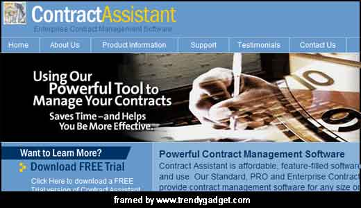 Targeting any size organization or budget, Contract Assistant offers you a powerful contract management tools. By installing the software (available for free trial), you can access any information, generate report instantly, and receive automatic reminders of critical dates. The company behind this great contract tools, Blueridge Software, said that they […]