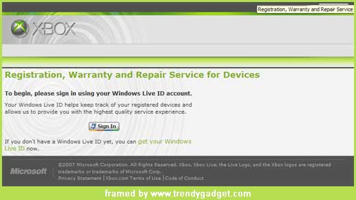 New service from xbox.com has been alive for xbox and xbox 360 customers in case they need to repair the broken box. The service located at service.xbox.com and you can login to the service using your existing Windows Live id or register a new one. After signing in, you can […]