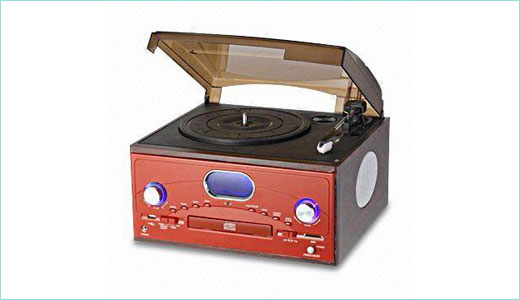 Coming with classic design, the Syfotech SY-TT128R Phonograph CD Player boasts built-in stereo speaker and remote control. The player protected by transparent cover. The special features include turntable with 33/45 and 78rpm selectable speed playback, belt drive system, repeat one/all playback, analog AM/FM radio with digital readout display, and LCD […]