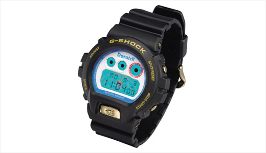 Japanese digital watch maker, Casio, release new and limited edition G-Shock Doratch with Doraemon theme. The watch is only manufactured 2112 items and costs around $131 in Japan. based on the Casio G-Shock DW-6900, the new Doratch configured with backlit dial and beautified with Doraemon's face. Via Wrist Dreams