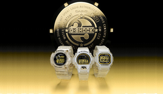Casio plans to throw its new luxury G-Shock watches to Japan market in the month after next month, i mean in May. The new watches comes with transparent cases/strap and gold finish. Available in three models including GW-225E Central, DW-6925E and GW-M5625 these watches bringing sport accessories to another level.