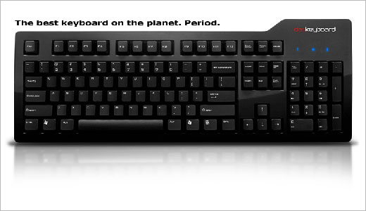 Two new keyboard was announced today by Das Keyboard, the Professional and the Ultimate. Just like a common keyboard, the Professional has standard QWERTY marking on its keys, but the Ultimate one doesn't have it or it is completely blank.
