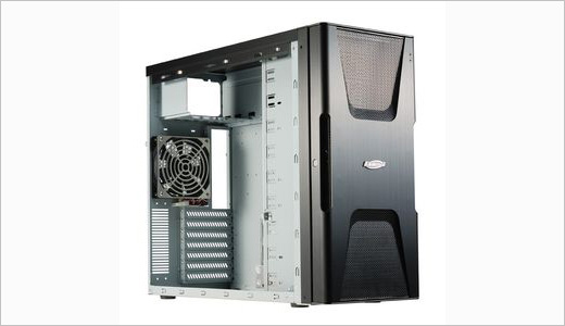 The new Midi-Tower case is launched by PC-K12 named Lancool K12. The case comes with modular patented anti-vibration HDD cage that supports 3x HDD's. Other unique features include extra sound padding and a lock on the front door. More details on press release: