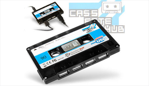 Coming with the shape of a classic tape, this USB 2.0 hub has 4 ports. It's Available form iwantoneofthose.com with pricing set at £13 (currently in stock). Nothing special about the hub except its retro style and realistic look. As it's not a real cassette, beware to keep away from […]