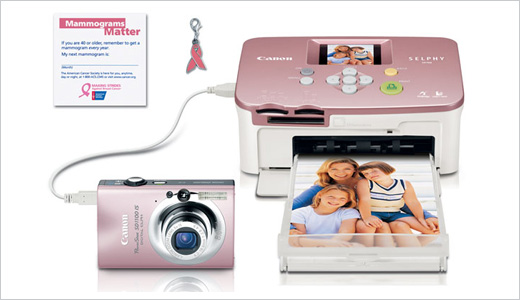 Canon has something special for pink lovers aka girls, the Pink Bundle of PowerShot SD1100 IS and SELPHY CP760. Available from Canon eStore with $280 of retail price, the bundle suitable for everyone who want to bring or buy digital camera and printer as single package. Color communicates. October is […]