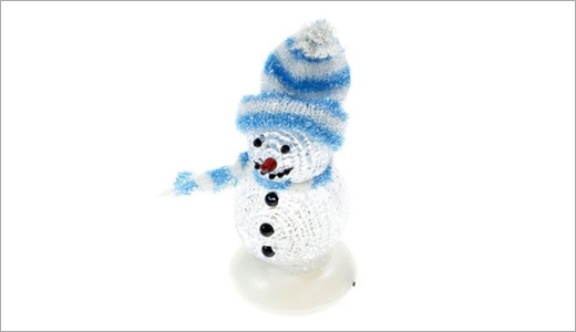 Compatible with any system featuring USB ports including PC, Mac, PS3, or anything else, the USB Powered LED Snowman is available from Amazon.com. This snowman features 4-color cycling LED shifts through red, green, white, and violet.