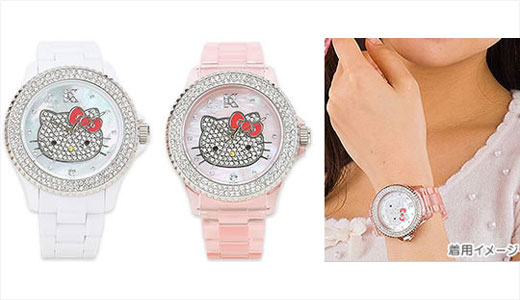 Manufactured by Citizen, the Hello Kitty Swarovski 2009 Wristwatch is designed by Vabane in Italy. This watch available from gizmine.com with pricing set at $560. Available in pink and white, the watch is water resistant. Read | Via