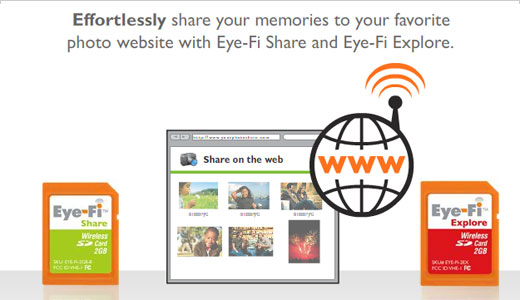 Compatible with any camera that uses an SD memory card, the Eye-Fi can make your camera wireless instantly. Just insert the Eye-Fi into your camera and it's ready to go. The Eye-FI available in three different models include Eye-Fi Home to automatically save your photos to your computers, Eye-Fi Share […]