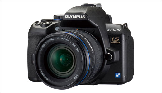 Olympus created a new toy for photograph enthusiast called E-620. The E-620 is a compact size DSLR camera with built-in Image Stabilization. Weighing in at 16.76-ounce and measuring at 130x60x94 mm, the camera features TruePic III+ Image Processor, 12.3-megapixel Live MOS image sensor, and a swivel 2.7-inch HyperCrystal™ III LCD.
