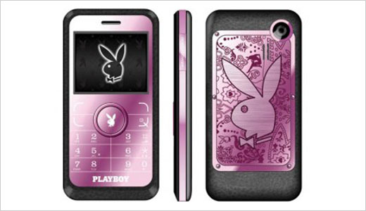 Made by Alcatel, the pink Playboy phone available at buy.com for $300. This phone comes with high quality metal finishing and Playboy theme that make it sexy. Working on GSM networks, the phone also bundled with charm, leather pouch, and Playboy Bluetooth headset (optional).