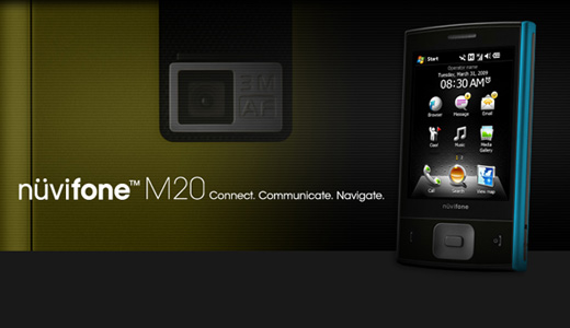 Garmin-Asus will show off its second product called Nuvifone M20 at MWC 2009 in Barcelona. The M20 runs Windows Mobile 6.1 Pro and works on dual-band 3.5G/tri-band GSM with WiFi/Bluetooth support. Supporting high-download speed up to 7.2Mbps, the M20 also installed with full-desktop browser for surfing the net conveniently. Regarding […]