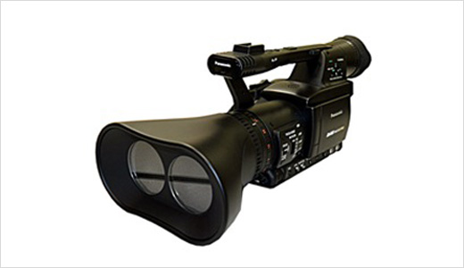 Panasonic currently showing off its upcoming 3D Full HD Production System at NAB 2009 in Las Vegas, Nevada. The system includes a twin-lens P2 professional camera recorder and a 3D-compatible High Definition Plasma display. The twin-lens P2 camera recorder enables the capturing of natural and high-quality live 3D images.