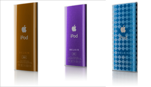 Belkin offers five new stylish cases for iPod nano 4G including Micra Glam, Micra Dusk, Micra Chex, Micra Flow, and Fuse. All the cases are currently available for $20 (single) or $25 (2-pack). This fashionable cases enhanced with etched designs, checkered patterns, and sparkly touches to bring style to you.