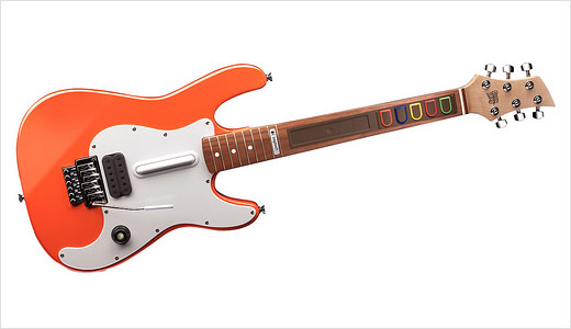 Logitech is pleased to offer you a new Wireless Guitar Controller for Xbox 360. The device comes with realistic looking, it has nice balance and has all the features for Guitar Hero game. Equipped with Xbox 360 guide button, the controller uses real wood to mimic a real guitar.