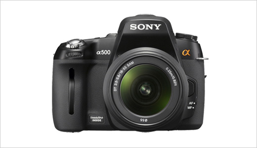 Along with the A550, Sony also announced Alpha A500 DSLR camera with lower resolution at 12.3 effective megapixel. The A500 basically has similar feature in comparison with its brother, but its shooting speeds only achieve 5 fps instead of 7 fps, and its battery allows up to 1000 shots instead […]