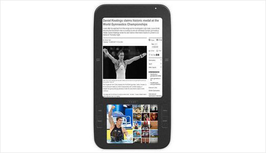 Based on Android, the new eBook reader named Alex will have a 6-inch monochrome electronic paper display and a secondary 3.5-inch colour touchscreen display. Expected to say hello to the masses by the end of 2009, the device supports WiFi, 3G, and SD card for storage expansion.
