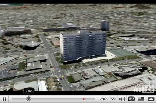 Finally the online tool for creating building for Google Earth open to the masses, the Google Building Maker. Currently you can choose a building in any of about 50 cities and construct a model of it using aerial photos and simple 3D shapes. This tool allows us to collaborate and […]