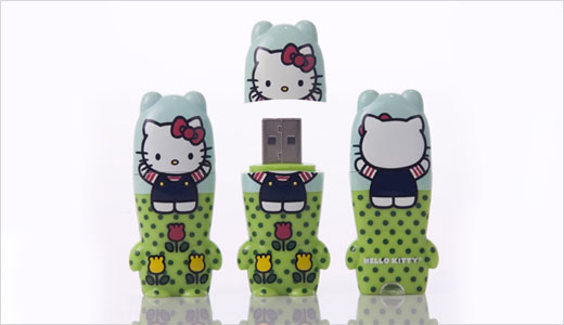 To celebrate the Hello Kitty's 35th Anniversary, Sanrio® and Mimoco produce Hello Kitty x MIMOBOT USB flash drive. Price at about $25, the drive features preloaded digital Mimory; 2GB, 4GB, 8GB capacities; Hi-speed USB 2.0; Mac/PC compatible; 2.5″ tall by 1″ wide. Read