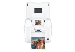 "Mentioned as an ideal printer on the wedding day, the Epson PictureMate Charm comes in beautiful compact design. This printer features a 2.5"" LCD screen, built-in card slots, and prints wirelessly from PDAs and digital camera cell phones with an optional Bluetooth adapter. It prints 4""x6"" photos in 37 seconds."