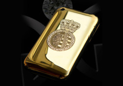Crafted by German designer Gerrit Guggenberger, the $100,000 Golden Delicious iPhone case available in silver, platinum or 18-carat gold, and encrusted with approximately 1,100 flawless, hand-laid diamonds. Sakura.com offers a 50 per cent discount for whoever wants to waste their money. Read