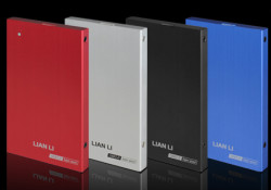 """Lian Li launches a EX-10Q USB 3.0 2.5"""" External Hard Disk Drive (HDD) Enclosure. Available in blue, red, silver, and black, the EX-10Q connects its users' external HDD to computers with a super-fast USB 3.0 cable that reaches speeds up to 5GMbps. For computers without USB 3.0 compatibility, the operating […]"""
