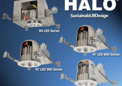 Designed for new construction or retrofit applications, the HALO LED lighting products reduce energy consumption and maintenance requirements when compared to traditional incandescent bulbs. HALO LED fixture is constructed to provide more than 50,000 hours of life, which means the fixture would continue to produce usable light for more than […]