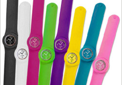 So-Mine announced the arrival of SlapWear watches just in time for the holidays. The SlapWear watch collection comes in eight silicone band colors with interchangeable, stainless steel time pieces so you can create 64 different possibilities. SlapWear watches are in stock now and exclusively offered online at www.myslapwear.com for $19.99.