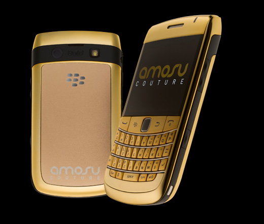 Blackberry Bold 9780 in gold plated - amosu