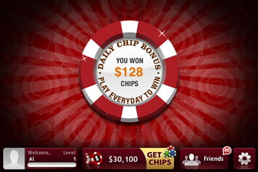 Zynga Poker on iPhone