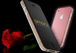 Amosu Couture has created the world's first Pink Swarovski iPhone 4. With a matching Rose Pink back, this ultimate valentine gift will be delivered by February 14 for 2699 GBP. Have you bought the 18 Carat Solid Gold Blackberry Torch? I don't think so. Read