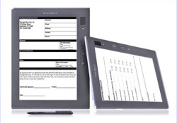 Ricoh introduced its new eWriter™ Solution: a business-class tablet and back-end services designed to improve business efficiencies by moving paper processes online. The system is comprised of the Ricoh eQuill™ tablet and the eWriter Workflow Services. With entry-level pricing starting at under $500, the Ricoh eQuill connects to the eWriter […]