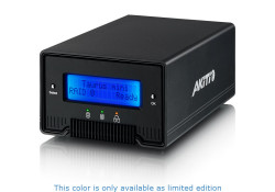 """The Taurus Mini Super-S is a 2.5"""" dual bay SATA enclosure, compact in size, and is complete with a built-in LCD display and two FW800 ports for daisy chaining. The Taurus Mini Super-S is equipped with a verstaile interface, featuring eSATA, FireWire 800 and USB 2.0 High Speed. To maximize […]"""