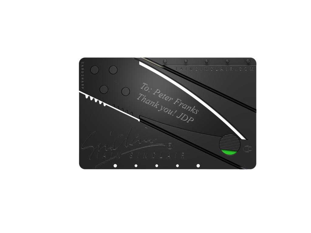 Cardsharp 2 knife by Iain Sinclair Design