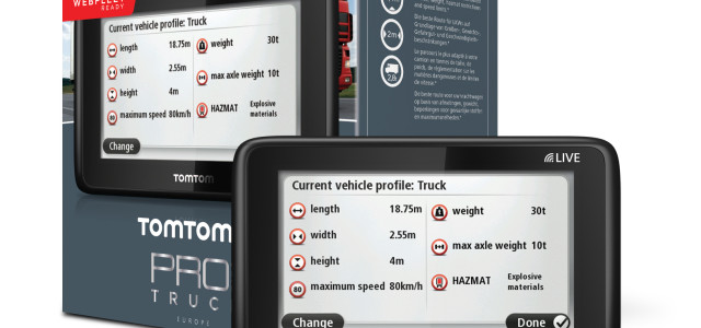 TomTom launched its PRO 5150 TRUCK LIVE for individual truck drivers. This device enables truck drivers to safely navigate throughout Europe on truck-friendly routes, avoiding dimensional, weight and hazardous materials restrictions. Offering specially designed truck routing based truck type, load, height, weight, length, restrictions, and maximum speed, the PRO 5150 […]