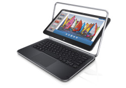 The keywords are 'Duo' and 'Convertible'. What does it mean? The XPS Duo 12 combines two devices in one, a powerful Ultrabook plus full featured tablet. Running Windows 8, the product features a flip hinge touchscreen display that make the 'Two Devices in One Package' jargon just works.